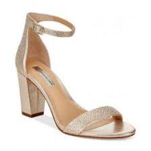 INC Kivah Gold Open Toe Strappy Sandal - Size 7M